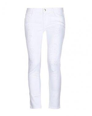 Джинсовые брюки KI6? WHO ARE YOU?. Цвет: белый