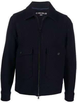 Куртка на молнии Circolo 1901. Цвет: синий