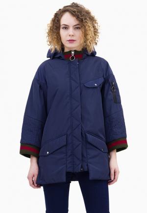 Куртка утепленная Pavel Yerokin. Цвет: синий