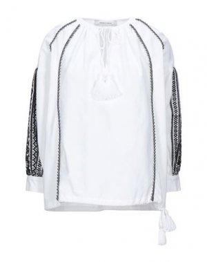 Блузка EMMA & GAIA. Цвет: белый