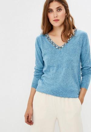 Пуловер Care of You. Цвет: голубой