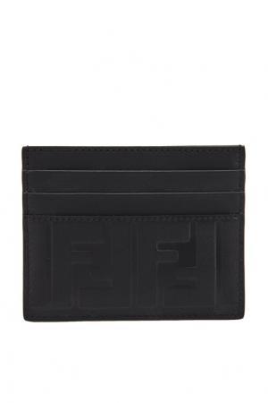 Черный футляр для карт с монограммами Fendi. Цвет: черный