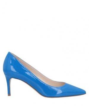 Туфли DEIMILLE. Цвет: ярко-синий