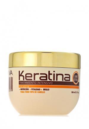 Маска для волос Kativa Кератиновая интенсивная поврежденных 500 мл. Цвет: белый