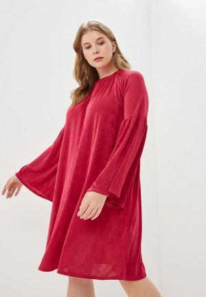 Платье LOST INK PLUS SWING DRESS IN SLINKY WITH WIDE SLEEVE. Цвет: розовый