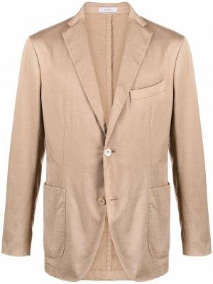 Однобортный пиджак с накладными карманами Boglioli. Цвет: нейтральные цвета
