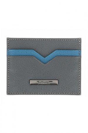Визитница Versace Collection. Цвет: серый
