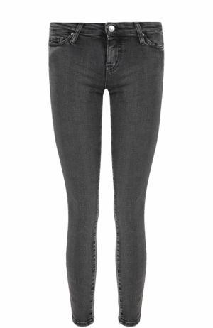 Укороченные джинсы-скинни с потертостями Iro. Цвет: темно-серый