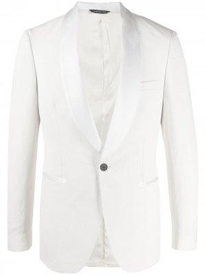 Однобортный пиджак Tonello. Цвет: белый