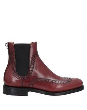 Полусапоги и высокие ботинки FABI. Цвет: красно-коричневый