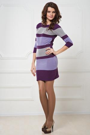Платье LeMonada. Цвет: сиреневый