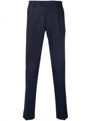 Классические брюки Berwich. Цвет: синий