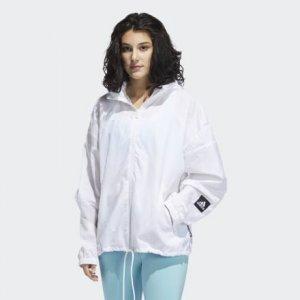 Ветровка W.N.D. Primeblue adidas. Цвет: белый