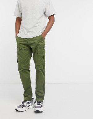 Зеленые брюки-карго -Зеленый Edwin