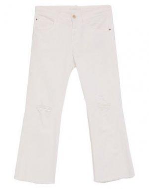 Джинсовые брюки-капри CARLA G.. Цвет: белый