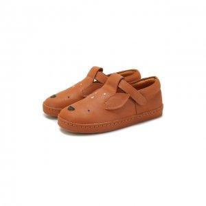 Кожаные слипоны Donsje Amsterdam. Цвет: коричневый