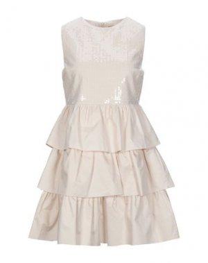 Короткое платье KAOS JEANS. Цвет: светло-розовый
