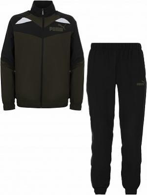 Костюм спортивный мужской Iconic Woven, размер 46-48 Puma. Цвет: зеленый