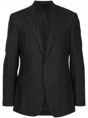 Однобортный пиджак узкого кроя Kent & Curwen. Цвет: серый