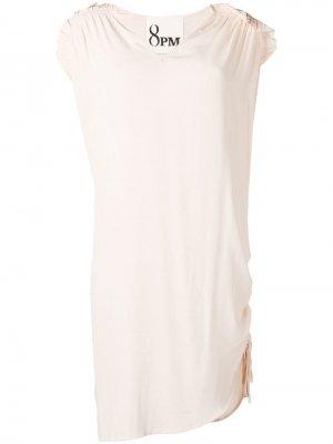 Платье трапеция с плиссировкой 8pm