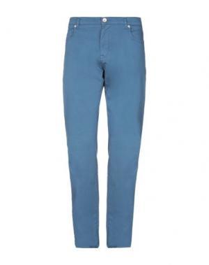 Повседневные брюки HENRY COTTON'S. Цвет: цвет морской волны
