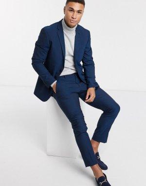 Темно-синий приталенный пиджак Esprit