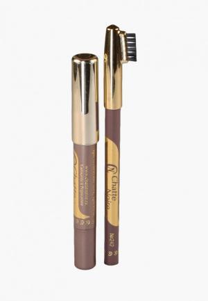Набор для макияжа бровей Chatte Noire Карандаш + Карандаш-тени №110, 3,46. Цвет: бежевый