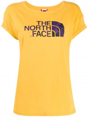Футболка с логотипом The North Face. Цвет: желтый