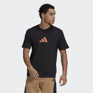 Футболка Athletics Graphic Sportswear adidas. Цвет: черный