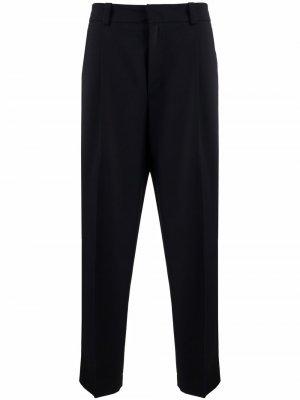 Зауженные брюки строгого кроя Acne Studios. Цвет: синий