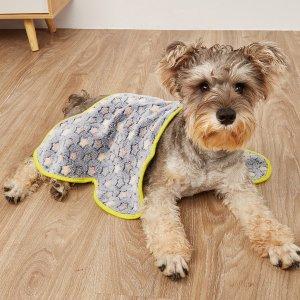 Одеяло для домашних животных в форме кости SHEIN. Цвет: серый