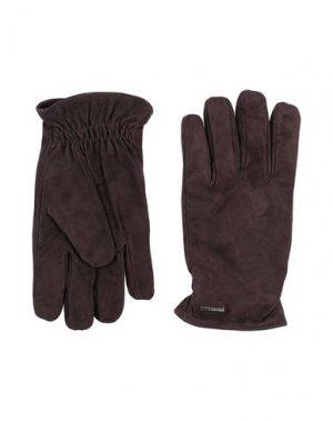 Перчатки LARDINI. Цвет: темно-коричневый