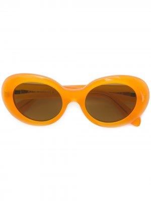 Солнцезащитные очки в овальной оправе Mustang Acne Studios. Цвет: оранжевый