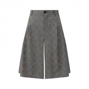Шерстяные шорты Comme des Garcons. Цвет: серый