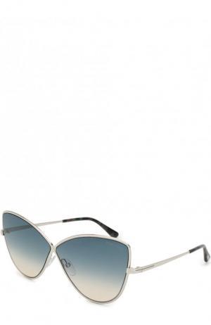 Солнцезащитные очки Tom Ford. Цвет: синий