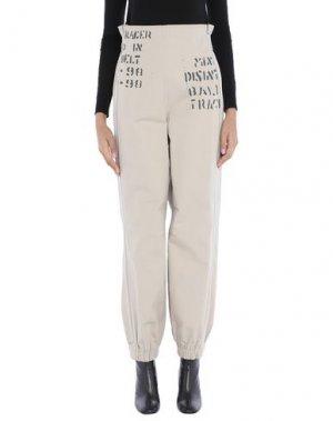 Повседневные брюки MISBHV. Цвет: бежевый