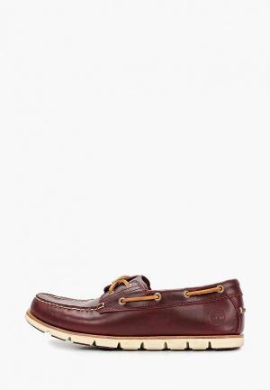 Топсайдеры Timberland Tidelands Boat Shoes. Цвет: бордовый
