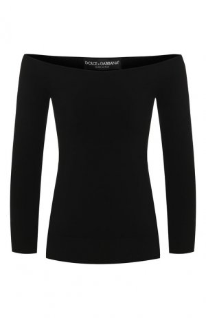 Пуловер из вискозы Dolce & Gabbana. Цвет: черный
