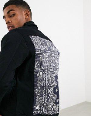 Черная джинсовая куртка -Черный Criminal Damage