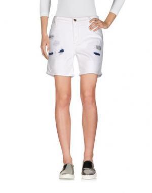 Джинсовые шорты VDP COLLECTION. Цвет: белый