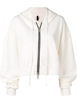 Куртка-бомбер с капюшоном Unravel Project. Цвет: бежевый