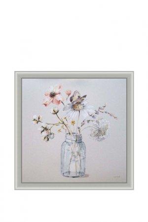 Картина-репродукция Декарт. Цвет: белый, серый