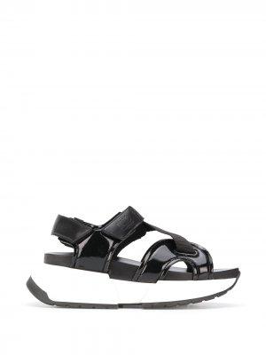 Спортивные сандалии MM6 Maison Margiela. Цвет: черный