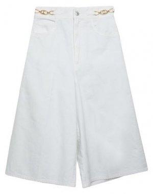 Джинсовые брюки-капри CELINE. Цвет: белый