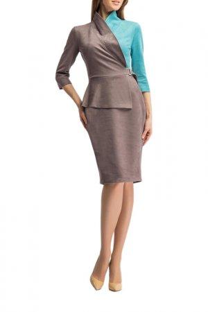 Платье Giulia Rossi. Цвет: кофейный, бирюзовый
