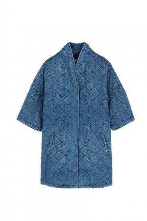 Хлопковое пальто Current/Elliott. Цвет: синий