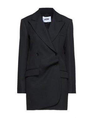 Пальто MSGM. Цвет: черный
