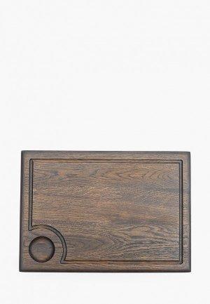 Доска разделочная Foxwoodrus. Цвет: коричневый