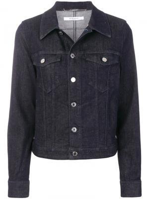 Джинсовая куртка с принтом-логотипом Givenchy. Цвет: синий