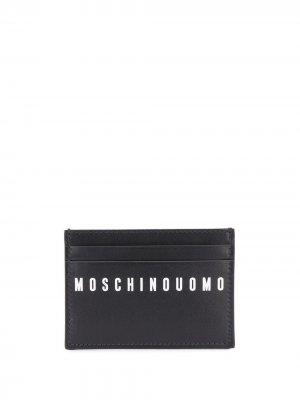 Картхолдер с графичным принтом Moschino. Цвет: черный